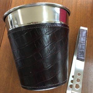 Biltmore Leather Ice Bucket/Tong NWT/Box
